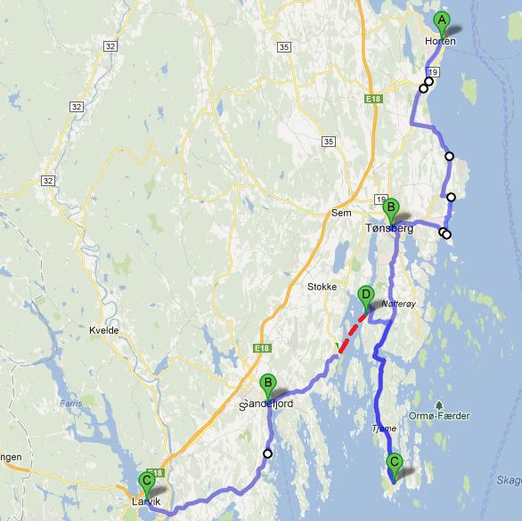 verdens ende kart Langs Øst  og Sørlandskysten i 2010   Sykle norskekysten verdens ende kart
